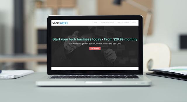 Website development services by Socialnet21.com